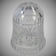 Vintage Cut Crystal Glass Covered Jar