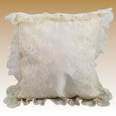Vintage Silk and Lace Pillow