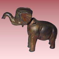 Vintage Metal Elephant Nodder Toy Figurine