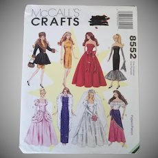 Vintage Uncut McCall's Crafts Fashion Doll Pattern
