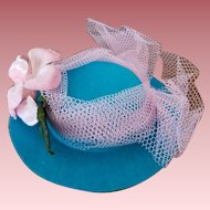 """Vintage """"Dolly's Chapeau"""" Doll Hat in Original Box"""
