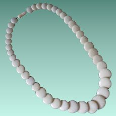 Vintage Early Plastic Graduated Disk Necklace