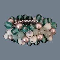 "Vintage Art Glass Bead ""Cha-Cha"" Bracelet"