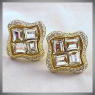 Vintage Signed Swarovski Crystal Earrings
