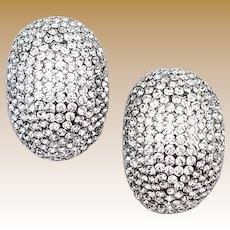 """Vintage Signed """"JARIN"""" Crystal Earrings"""