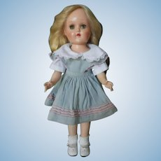 "Harder to Find Vintage Ideal 90 W 14"" Hard Plastic Walker Toni Doll"