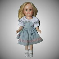 "Hard to Find Vintage Ideal 90 W 14"" Hard Plastic Walker Toni Doll"