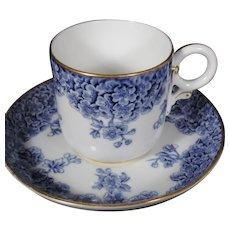 Rare Royal Worcester Demitasse Cup and Saucer Set