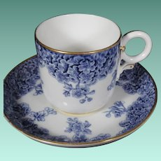 Rare Royal Worcester Demitasse Cup and Saucer Set