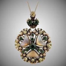 Vintage Signed FLORENZA Pendant Necklace