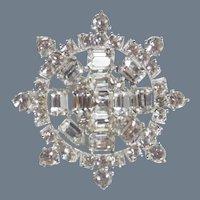 Vintage Signed Bogoff Wheel or Snowflake Brooch