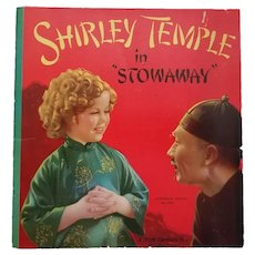 "Vintage Original Book - ""Shirley Temple in ""Stowaway"""