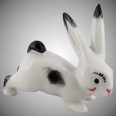 Vintage Signed Metzler and Ortloff Miniature Porcelain Rabbit Figurine