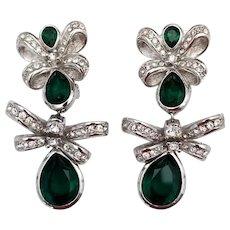 Vintage Signed Christian Dior Dangle Earrings