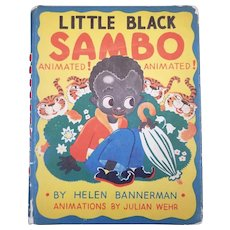 Vintage Animated Little Black Sambo Book