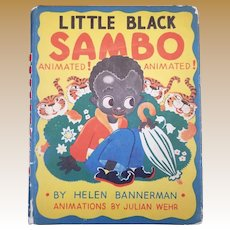 Vintage Animated Little Black Sambo Book