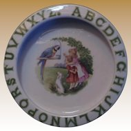 Vintage ABC Children's Porcelain Dish