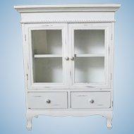 Vintage Painted Wood Display Cabinet
