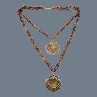 Rare Signed Ugo Correani Scallop Shell Necklace