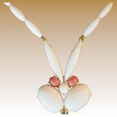Rare Vintage Signed Trifari Rabbit Necklace