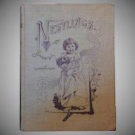 """Rare Antique Original Hardbound Book - """"Nestlings"""""""