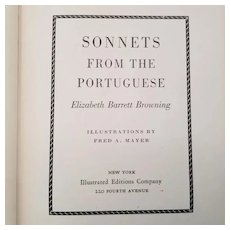 Vintage Poetry Book - Sonnets From the Portuguese