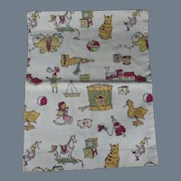 SALE! Vintage Hand Sewn Fanciful Pillow Cover
