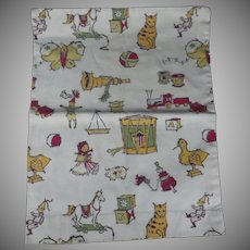 Vintage Hand Sewn Fanciful Pillow Cover
