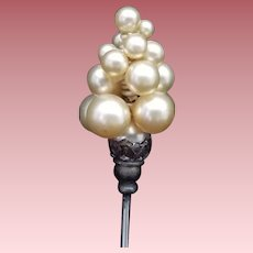 Vintage Faux Pearl Hat Pin