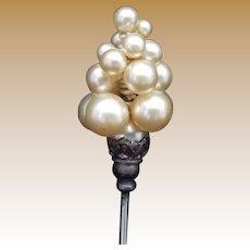 Vintage Faux Pearl Hat Pin