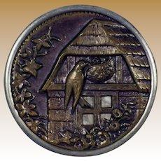 Vintage Round Metal Picture Button