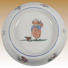 Rare Vintage Empire China Patriotic Child's Dish