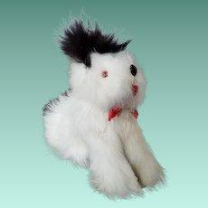 Vintage Rabbit Fur Toy Dog