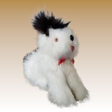 Vintage Rabbit Fur Toy Dog