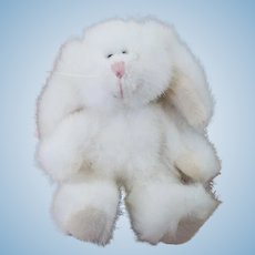 Vintage Artisan Made Miniature Plush Bunny Rabbit