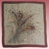 Vintage Earth Tones Silk Scarf