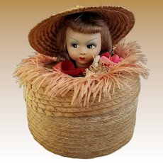 Rare Vintage Souvenir Doll Head Box