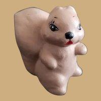 Vintage Miniature Ceramic Squirrel Figurine