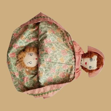 Vintage Hand Made Topsy Turvey Doll