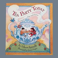 """Vintage Children's Poetry Book - """"Tea Party Today, Poems to Sip and Savor"""""""