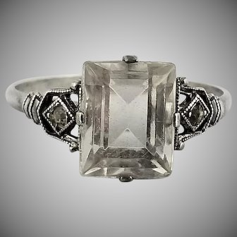 Vintage Signed UNCUS Sterling Silver Ring