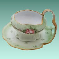 Vintage Rosenthal Attached Cup or Handled Bowl with Saucer