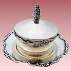 Vintage 950 Sterling Silver Four-Piece Butter Holder