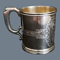 Antique Pure Coin Silver Cup or Mug