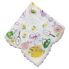 "Vintage ""Girly"" Handkerchief"