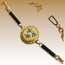 Vintage World War II Marine Sweetheart Bracelet