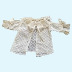 Antique Lace and Mesh Fabric Doll Sweater or Coat