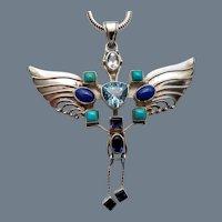 Vintage Art Nouveau Revival Pendant Necklace