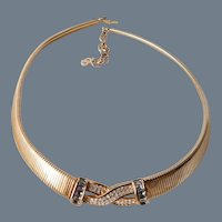 Vintage Signed Christian Dior Necklace in Original Box