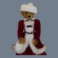 SALE Vintage Christmas Decoration Large Plush Bear